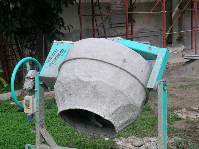 bétonnière pour préparer du béton