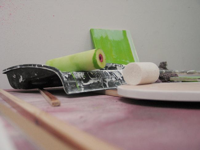 chantier de peinture