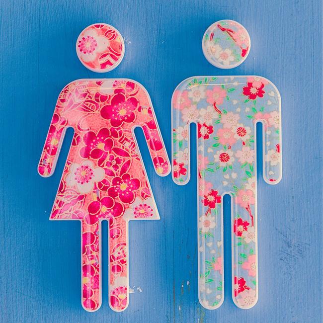 décoration pour les toilettes