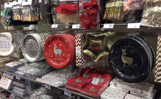 vaisselle jetable pour Noël